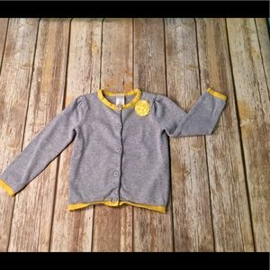 4T gray and Yellow Gymboree Cardigan Sweater